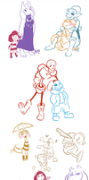 Undertale Doodles by RainbowFilled