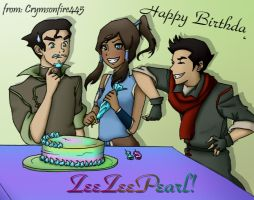 Korra Wishes Me a Happy Birthday by Zeezeepearl