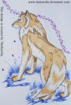 Wolf and Flowers by TheKarelia