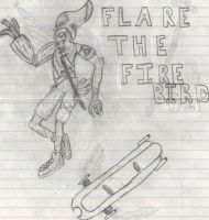 Old OC: Flare the Fire Bird by MegaAnime