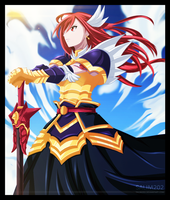 Erza Scarlet - Paladin at Dusk by salim202