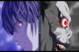 Light and Ryuk by HollowCN