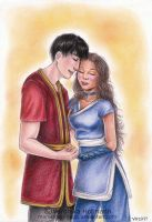 Zutara: Red and Blue by Verlisaerys