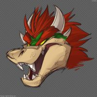 Bowser Head Scribble by zillabean