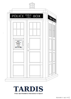 Tardis outline or Coloring Page by Ryuuzaki-L-spy-19