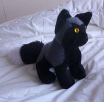 Small silver fox plush 2 by goiku