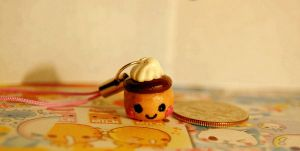 Cute Clay Flan by FatCatCharms