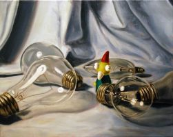 Still life with Gnome by JessicaEdwards