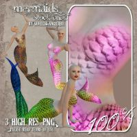 Mermaids 02 by angellella-stock