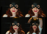 Barbara Gordon Batgirl-makeup test by stitchesandsongbirds