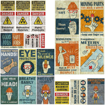 Factory Safety Signs - Fallout 4 by PlanK-69