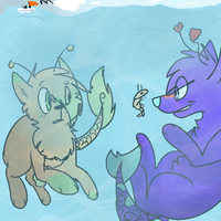 Comission: Under The Sea by babyfawns