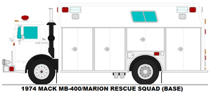 Mack MB-400 Marion Rescue Squad base by MisterPSYCHOPATH3001