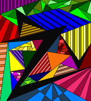 Abstract Lineart 7-color by drachenlilly