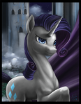 Rarity one Nightmare Night by CosmicKelpie
