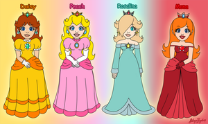 Mario princesses by AilwynRaydom