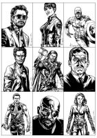 Avengers Movie Cards 1 by ncajayon