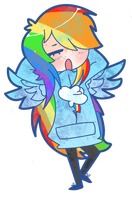 Rainbow Dash by CrownOfSpadez