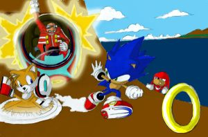 Old Sonic Art by LogicDreams