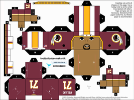 Trent Williams Redskins Cubee by etchings13