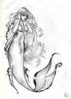 Mermaid sketch by VeraArt