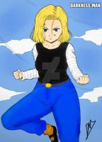 ANDROID 18 by Darkness-Man