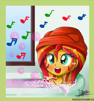 .:Singing in the bath:. by The-Butcher-X