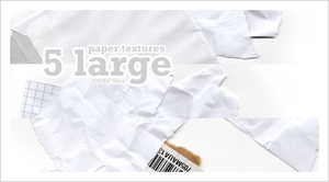 5 large paper textures by schokotorte