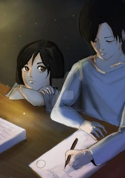 Levi and my OC 2 by tangkwanawaporn
