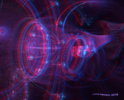 Cosmos Labyrinths Anaglyph 3D Stereoscopy by Osipenkov