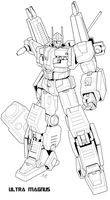 Ultra Magnus Linework by Tyr44
