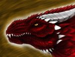 Greater Red Dragon (now in color) by ChristopherRobinArtz