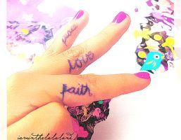 Peace, Love, Faith. by iaminthelalaland
