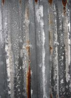 Rusted Corrugated Metal by GreenEyezz-stock
