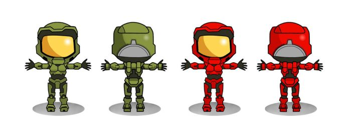 HALO WARstories character temp 2 by BLaKcatINK