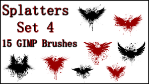 GIMP Splatter Brushes Set 4 by Illyera