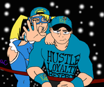 R. Mika and John Cena (colored) by Breezykiid94