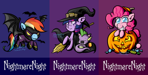 Nightmare Night Badges by SouthParkTaoist