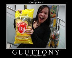 GLUTTONY Demotivational by JellyN8TR