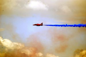 Red Arrow, blue smoke by Mark-Allison