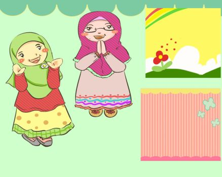 cute hijab with background by fiyalayanfa2