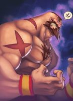 The Red Cyclone: Zangief by Zatransis