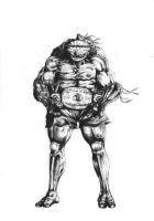 Michelangelo as Muay Thai Champion Draft by Joe-Style