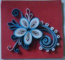 Quilling: Mini Card Flower by staceysmile