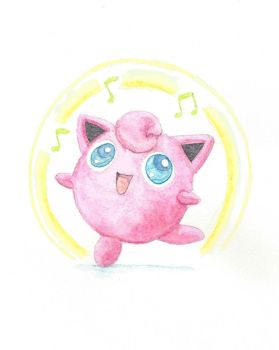 Jigglypuff Watercolor by Seigner
