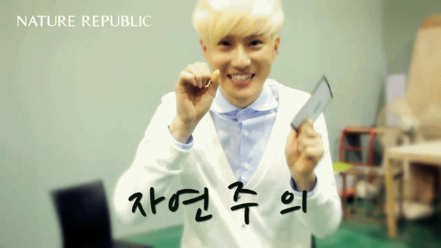 [GIF] Suho's Aegyo - Nature Rep BTS (2) by imawesomeee03