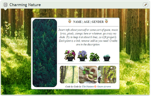 Charming Nature - CUSTOM BOX CODE by Snow-Arrows
