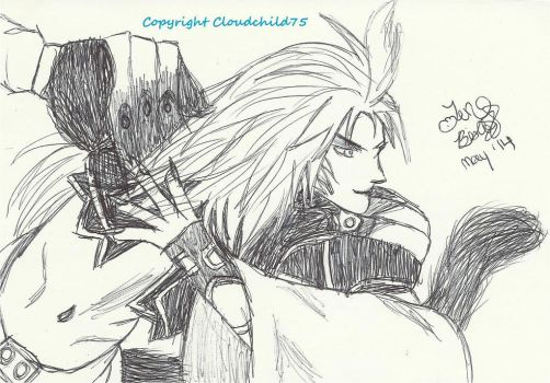 Kuja scribble by MaguschildCloud