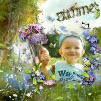 Blue Meadow by Lily Designs by Altia13