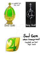 Jupiter Soul Gem and Grief Seed by AliceKaninchenbau